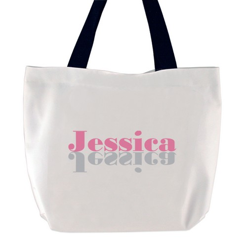 Description: Think Pink Personalized Name Tote Bag