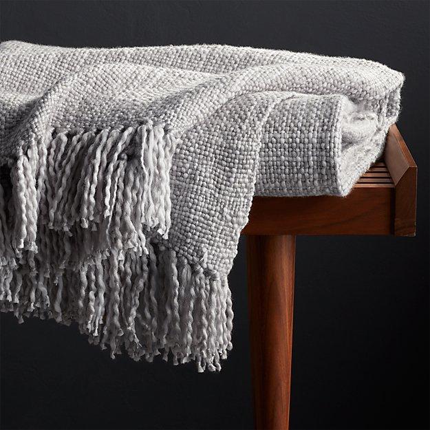 Description: Styles Dove Fringe Throw Blanket - Image 1 of 7