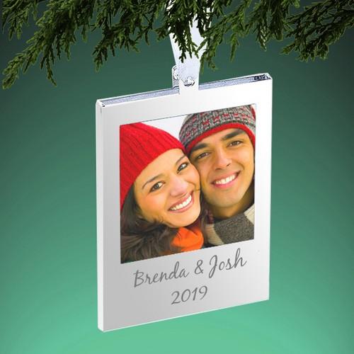 Description: Silver Frame Tree Ornament