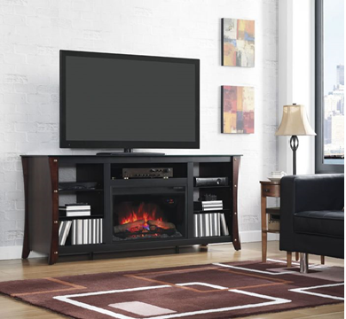 "Description: arlin 66"" TV Stand with Fireplace"
